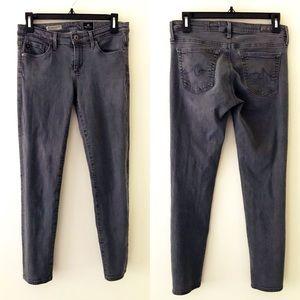 AG Gray The Stevie Ankle Slim Straight Jeans
